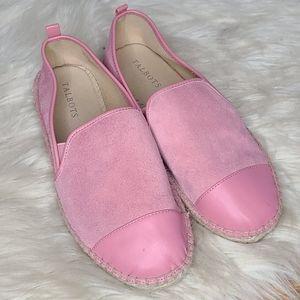 Talbots Izzy espadrille pink suede loafer flats 8m